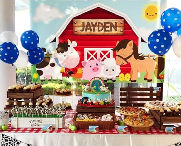 Jayden's Banyard Themed Party